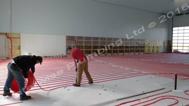 Installing In-floor Heating in Olds
